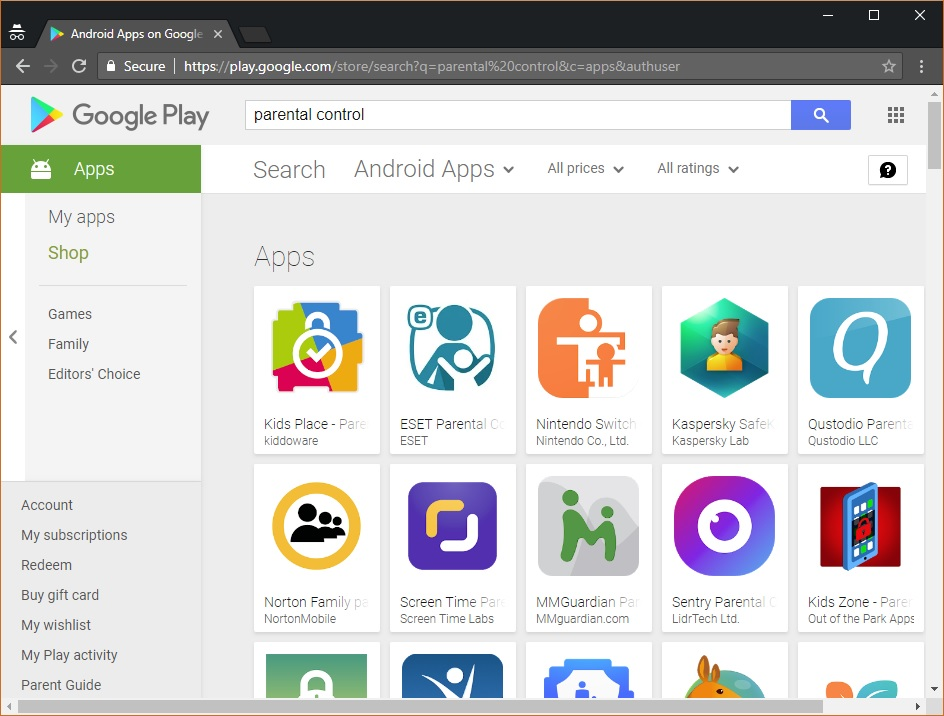 Google Play - The best parental control apps for Samsung smartphones