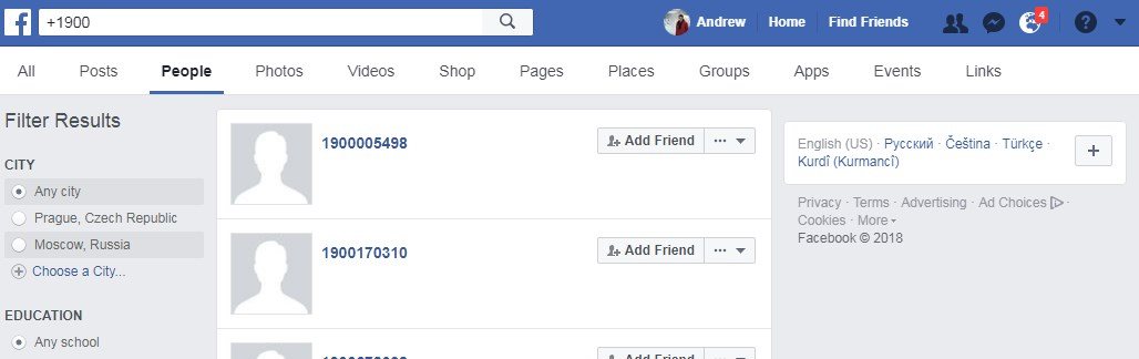 Using Phone Numbers to Find Facebook Accounts